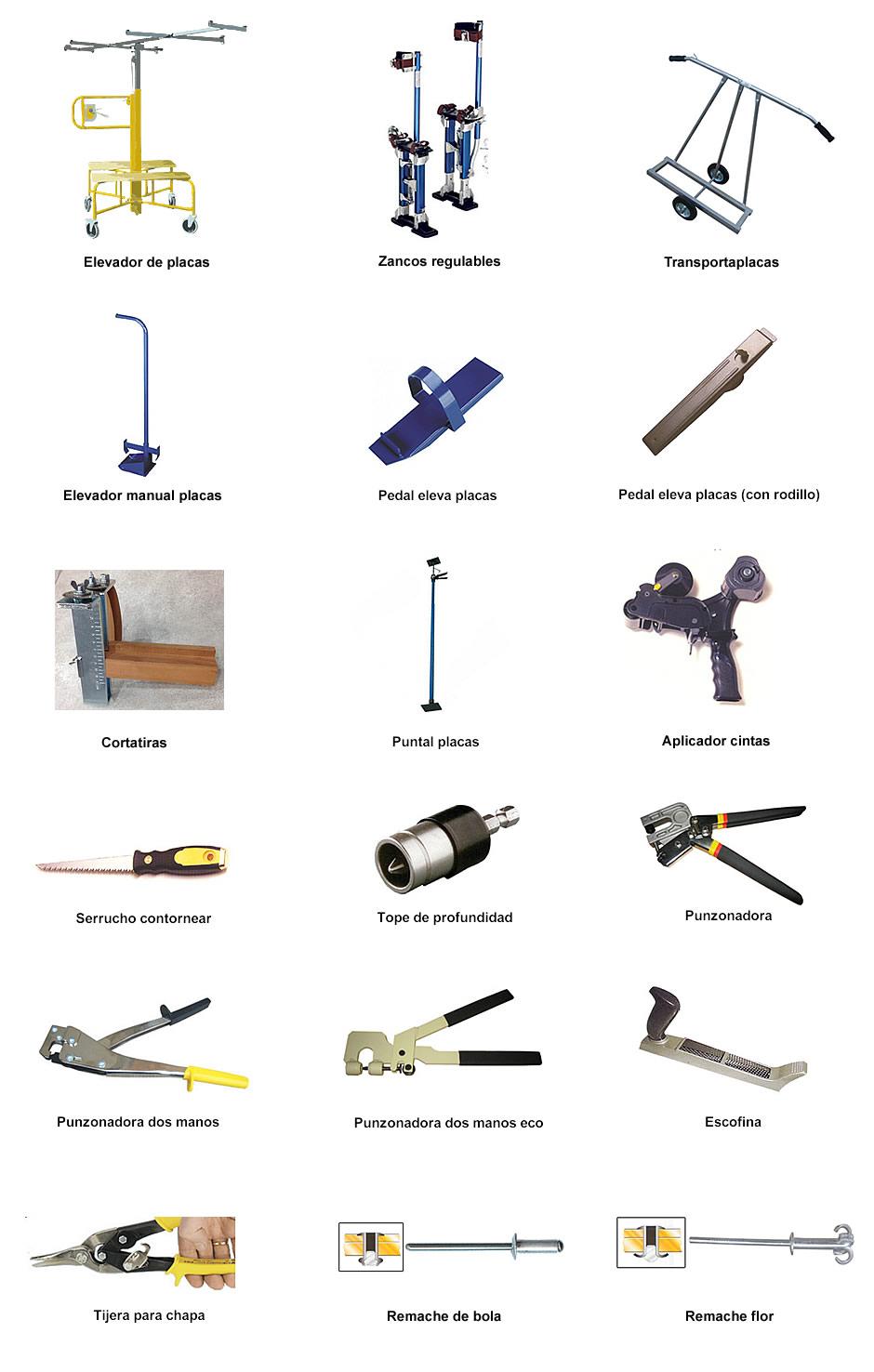 utiles y herramientas yeso laminado en Gomilagost