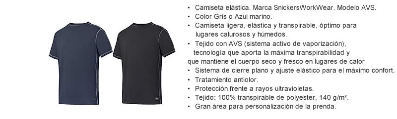 camiseta elastico verano