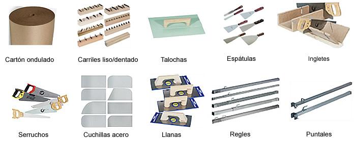 herramientas yeseros y escayolistas