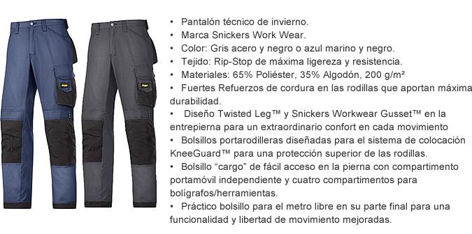pantalon invierno profesional