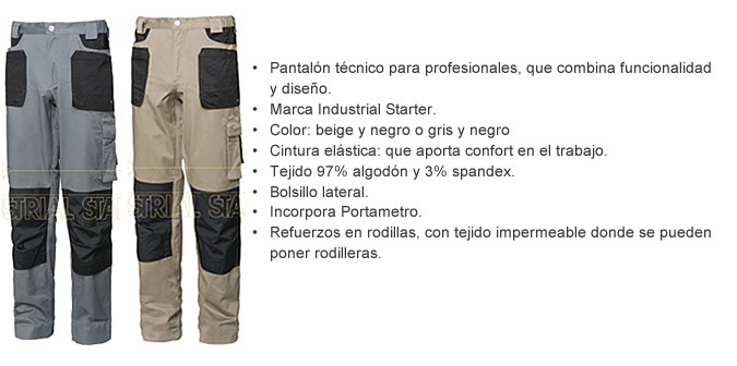 pantalon tecnico profesional