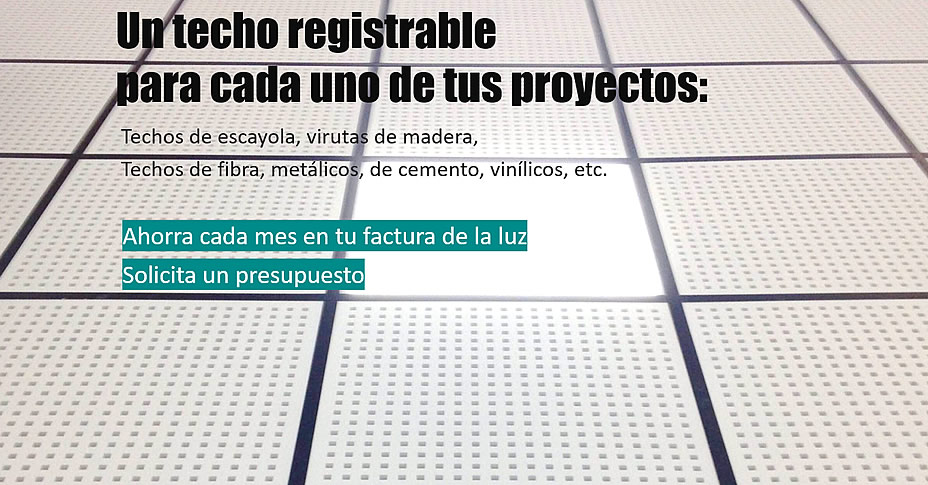 techos registrables